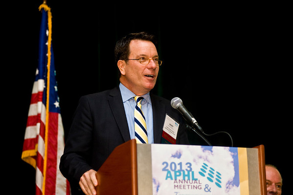 Scott Zimmerman, director, North Carolina State Laboratory of Public Health welcomes attendees to North Carolina | www.aphlblog.com
