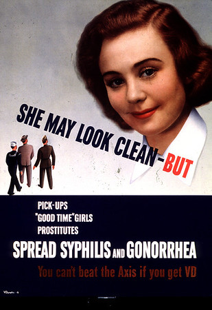 Syphilis public health campaign poster