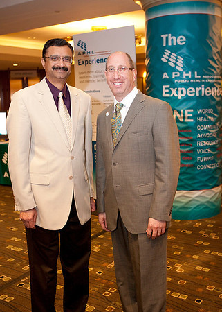 Romesh Gautom, Director of the Washington State Public Health Laboratories, and Scott Becker, Executive Director of APHL